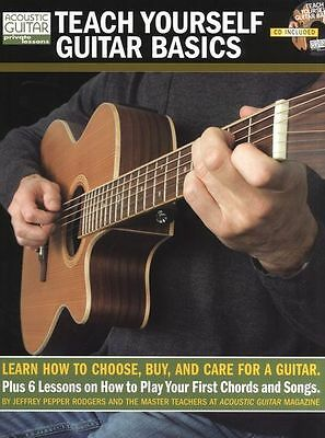 Acoustic Guitar Private Lessons Teach Yourself Basics Play Music Book & CD