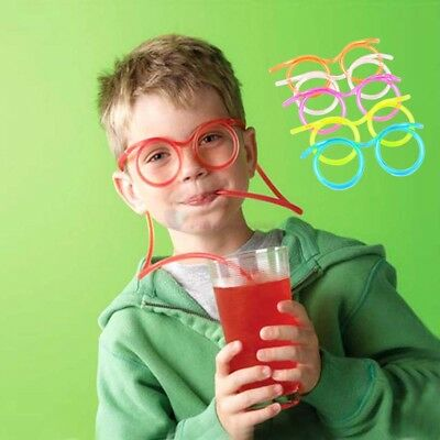Colorful Funny flexible Soft Glasses Straw Glasses Drinking Tube Fun Drinking