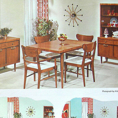 VTG PEE GEE Library Colors paint brochure home decor press print AD chip sample