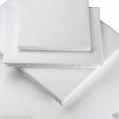 """100% Egyptian Cotton 200 Thread White Super King 16"""" Extra Deep Fitted Bed Sheet"""