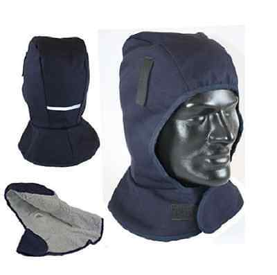 Safety Gear Winter Liner Navy, Sherpa Lining, Attachable Tabs-Universal Size