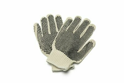 Black Double Dot Work Gloves 12 Pair for Mens 1 Dozen/Case