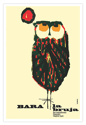 Movie Poster 4 film Bara the WITCH.Owl.La Lechuza Bruja.Lovely.Room decor art.