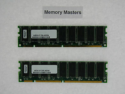 MEM-512M-AS54 512MB Approved (2x256MB) SDRAM Memory Kit for Cisco AS5400