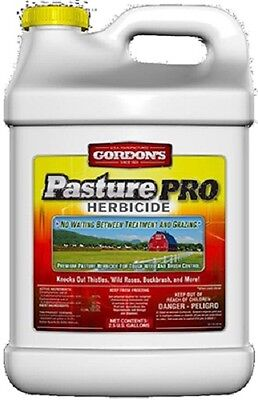 (2) Gordons 8111122 Pasture Pro 2.5 Gallon 2,4-D Herbicide Weed Killer