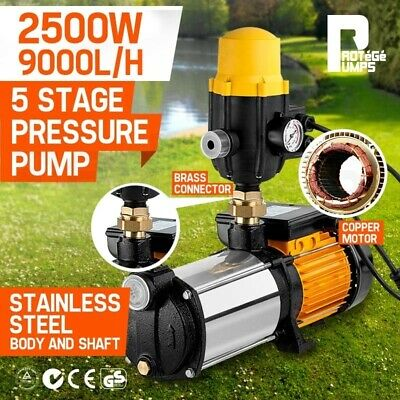 PROTEGE Multi Stage High Pressure Water Pump Garden House Rain Tank Irrigation