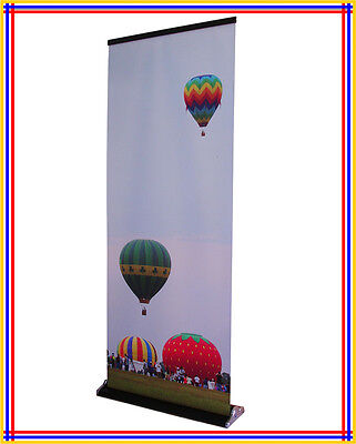 "32""x79"" Luxury Retractable Banner Stand (Black) with Free Printing R380"