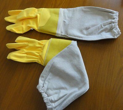 New beekeeping bee gloves cotton beekeeper Rubber Cuff  Small Large XL 4XL 5XL