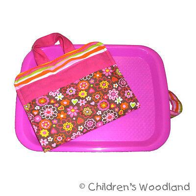 Preschooler Art Set -  Flowers Lap Tray and Travel Toy - Girls Desk for Children
