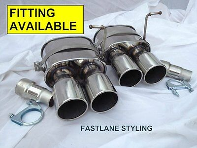 Bmw X5 E53 Diesel/petrol Stainless Steel Back Box Exhaust Tip Tail Pipe