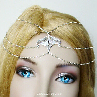 Silver Plate Eastern inspired Circlet/Head piece with Diamantes *NEW*