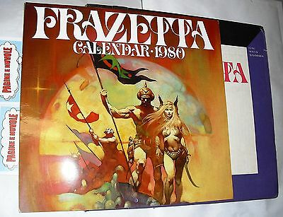 frank frazetta - THE FRANK FRAZETTA CALENDAR 1980 - calendario in inglese