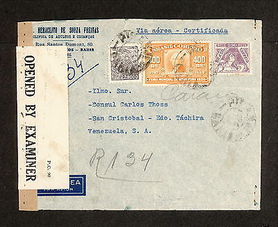PH4812 1943 Military Postal History WWII Brazil to United States