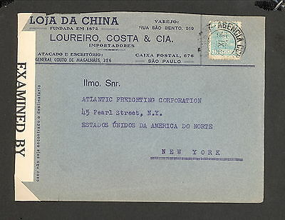 PH4831 1940s Military Postal History WWII Brazil to United States