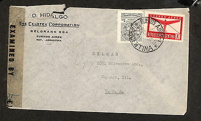 PH4850 1940s Military Postal History WWII Argentina to United States