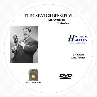 THE GREAT GILDERSLEEVE - 514 Shows Old Time Radio In MP3 Format OTR On 1 DVD