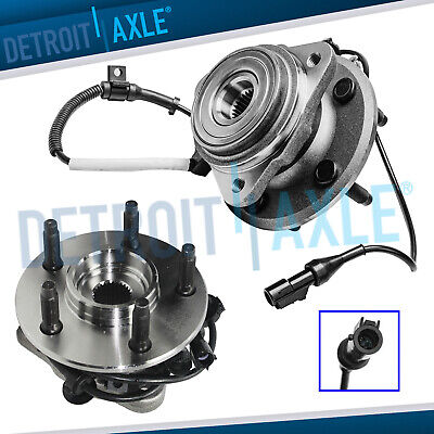Pair of New Front Ford Ranger Mazda Mercury 4WD ABS Wheel Hub & Bearing Assembly