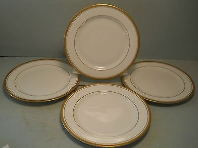 vtg Syracuse China Old Colony Lot Of 4 Bread Plates with Gold Rims Syracuse