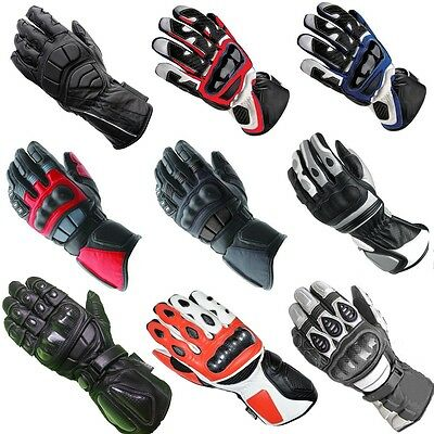 Collection of All Season Motorcycle Motorbike Cowhide Leather Gloves  S M L XL