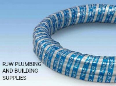 Hep20 White 5 Metre 15Mm Coil Barrier Pipe Suitible Central Heating/water/diy.