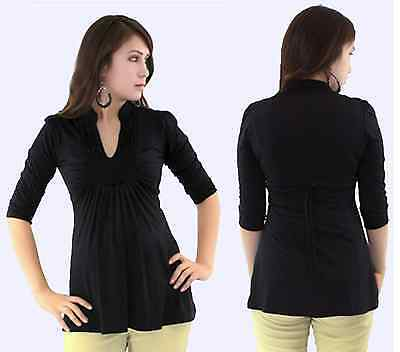 Cute Black Maternity top 3/4 sleeve with tie in the back s-m-l-Xl