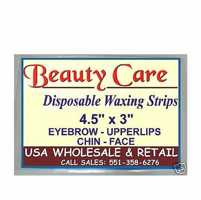 """6 Packs of Waxing 50 Strips 4.5""""x3"""" HAIR REMOVAL FACE CHIN UPPER LIPS USA SELLER"""