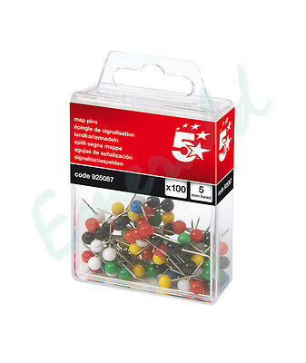 100 Map Pins Colour Choice & Assorted Packs Available 5mm Head Same Day Postage