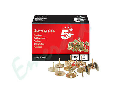 150 Brass Head Drawing Pins - 11mm Diameter Same Day Dispatch