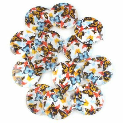 1strings Wholesale Fashion Butterfly Oblate Charms Disc Loose Shell Beads New LC