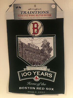BOSTON RED SOX FENWAY PARK 100 YEARS BANNER, LIMITED EDITION BEAUTIFUL RARE