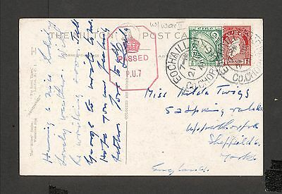 PH4694 1941 Military Postal History Cover WWII Ireland to Great Britain