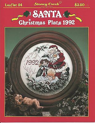 """""""Santa Christmas Plate 1992"""" by Stoney Creek Collection Leaflet 54"""