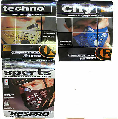Respro Cycling mask face cover bicycle motorbike bike running anti pollution