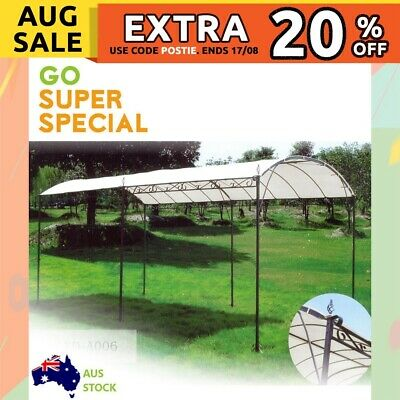Gazebo, Marquee Carport Shade Shelter 3x4m, 2.6m (H) Steel Frame Waterproof Top