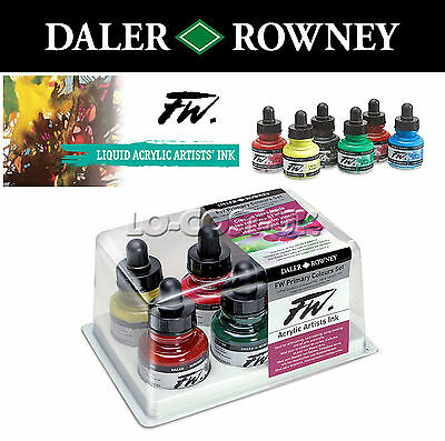 Daler-Rowney Artists Fw Acrylic Ink Sets - Arts & Craft Supplies / Airbrushing