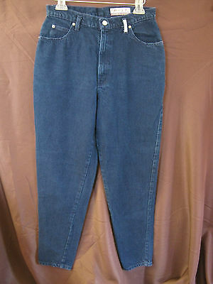 VTG 80's Sasson Blue Overdyed Jeans High Waist Tapered Size 13/14