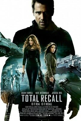 TOTAL RECALL DOUBLE SIDED MOVIE POSTER 69x102cm Jessica Biel Kate Beckinsale