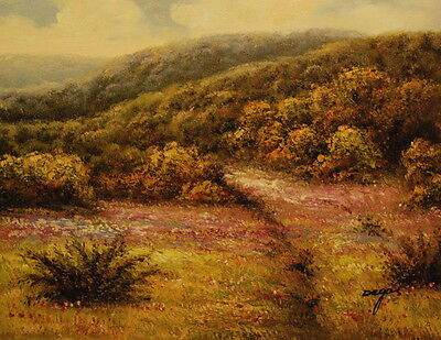 """12""""x16"""" Canvas Wall Art Oil Painting Hand Painted- Springtime Meadow"""