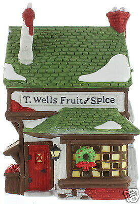 T. Wells Fruit & Spice 1988 #59242 Dickens Village Collectible Department 56