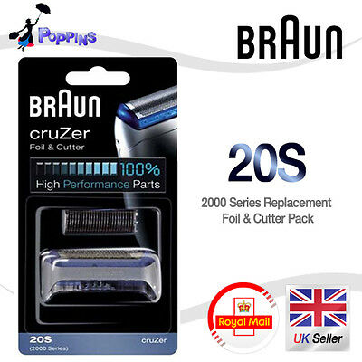 NEW Genuine BRAUN 20S 2000 Series Replacement Foil + Cutter Set