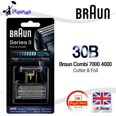 NEW Genuine BRAUN 30B 7000 / 4000 series Replacement Foil + Cutter Set
