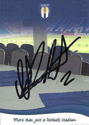 A 6 x 4 inch Colchester United photocard Personally Signed by Tom Aldred