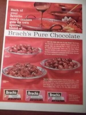 1962 Vintage Print Ad Brach's Chocolate Candy 10X13 Peanuts Stars Bridge Mix