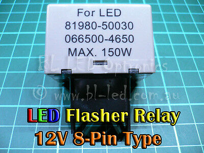 8-Pin Electronic Flasher Relay Unit LED Indicators Suits Lexus Toyota Hilux
