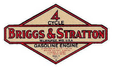 Briggs & Stratton Vinyl Sticker (A083)