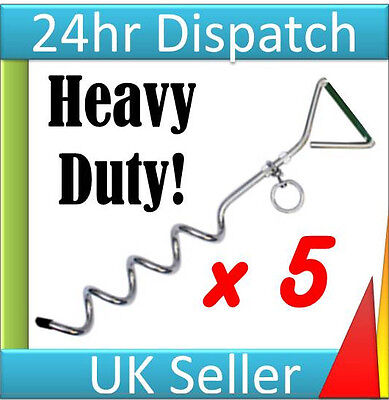 5 Metal Steel Tent Camping Awning Gazebo Marquee Ground Anchor Peg Stake Fixing