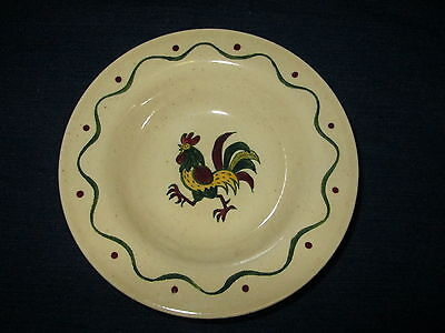 """Set of 4 METLOX POPPYTRAIL Country ROOSTER 6"""" Dessert BOWLS"""