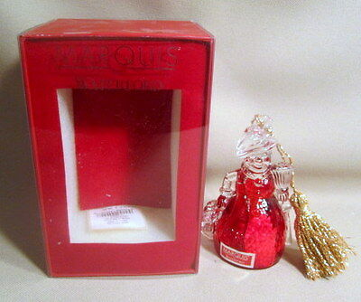 Waterford 2008 Annual Bell Red Snowman Christmas Ornament NIB