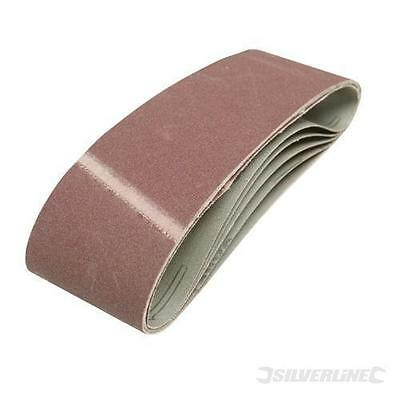5 x SANDING BELTS 75 x 533mm 40 GRIT SANDER FITS ALL FULLY RESIN BONDED DURABLE