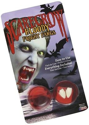 Scarecrow Halloween Bloody Fright Dracula Vampire Zombie Werewolf Fangs Teeth